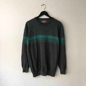Empyre Sweater Pullover Crew Long Sleeve Gray L